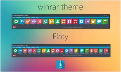Flaty WinRAR theme by alexgal23