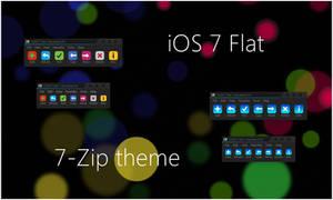 iOS 7 Flat 7-Zip theme