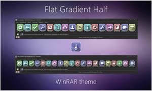 Flat Gradient Half WinRAR theme