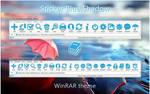 Sticker Blue Shadow WinRAR theme
