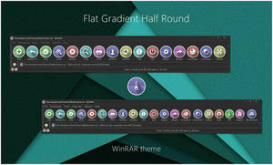 Flat Gradient Half Round WinRAR theme