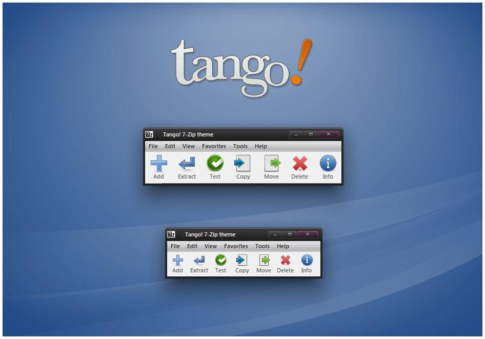 Tango 7 Zip Theme By Alexgal23 On Deviantart