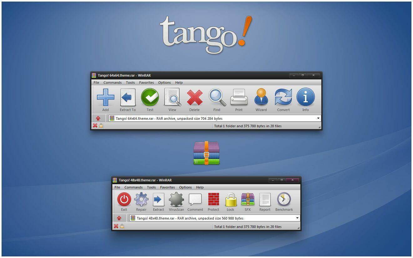 Tango! WinRAR theme by alexgal23