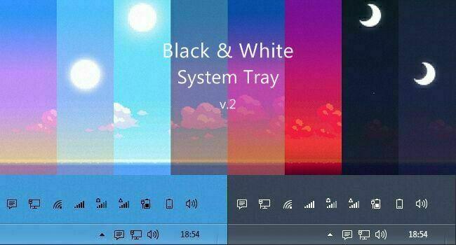 Black and White System Tray v.2