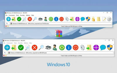 Windows 10 WinRAR theme
