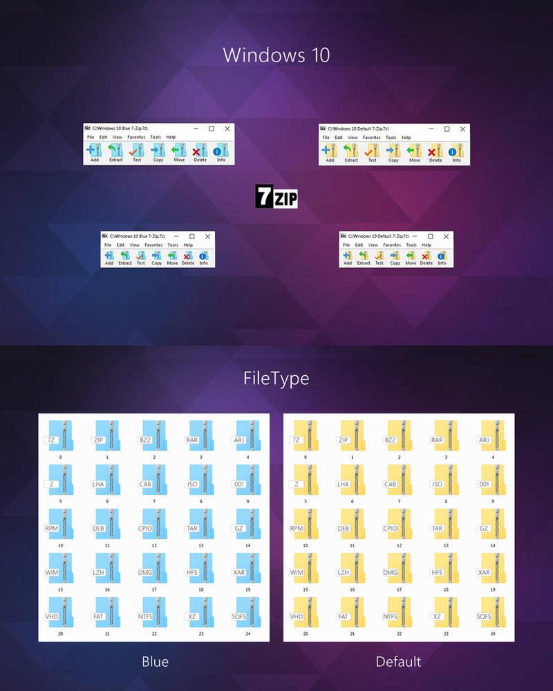 Windows 10 7-Zip theme by alexgal23 on DeviantArt