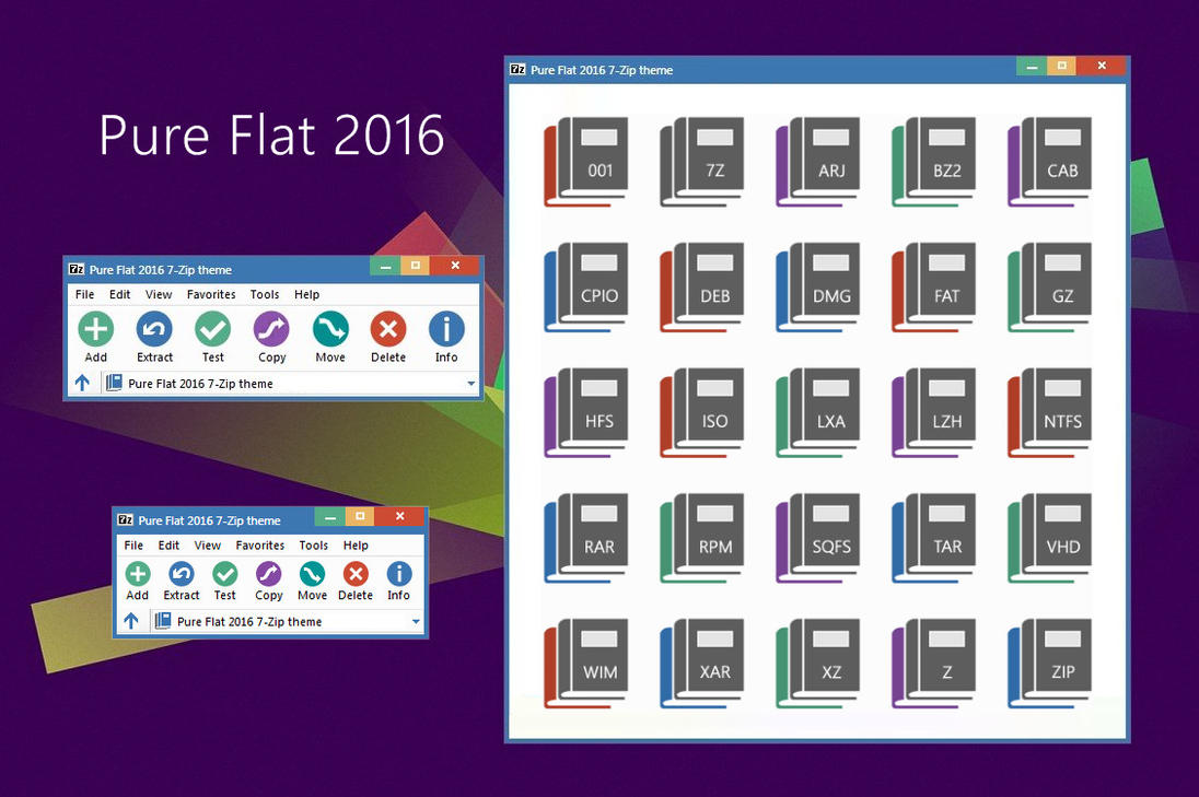 Pure Flat 2016 7 Zip Theme By Alexgal23 On Deviantart