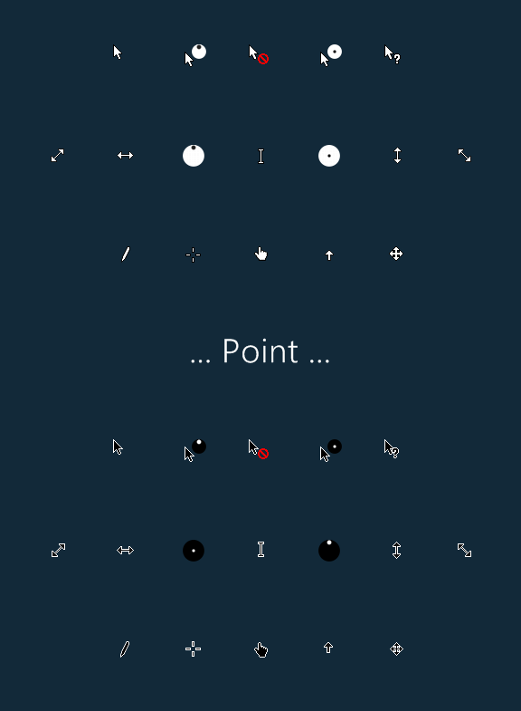 Point Cursors