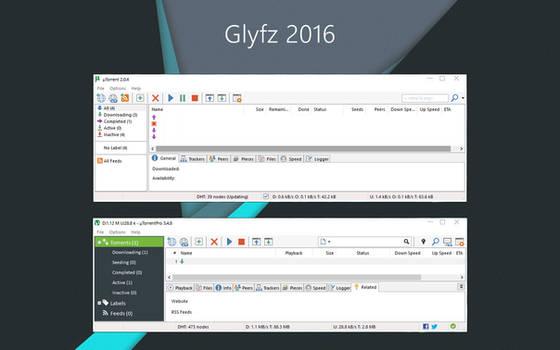 Glyfz 2016 uTorrent Skin