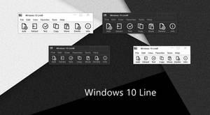Windows 10 Line 7-Zip theme