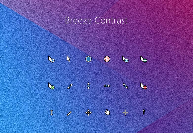 Breeze Contrast Cursors