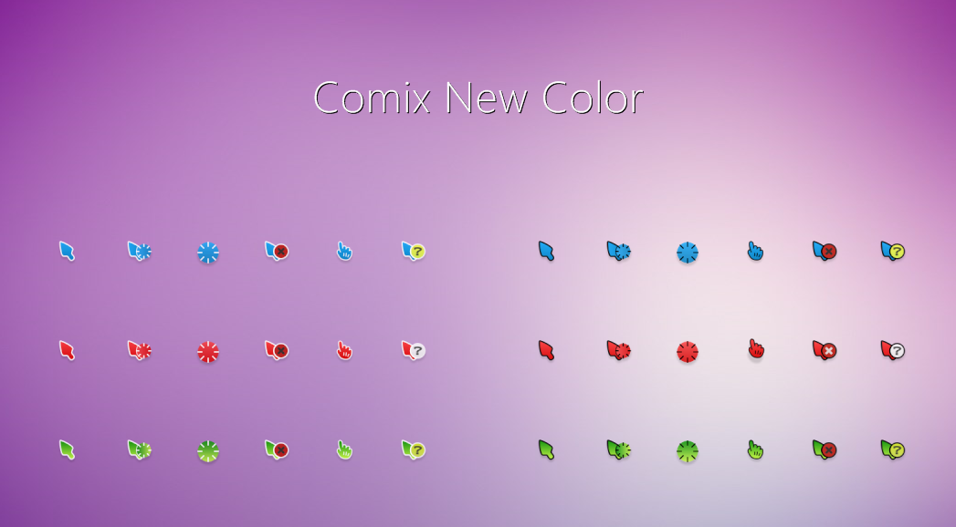 Comix New Color Cursors