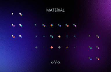 Material x-V-x Cursors