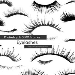 Eyelashes Photoshop and GIMP Brushes