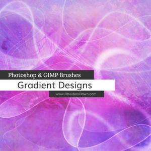 Gradient Designs Photoshop and GIMP Brushes