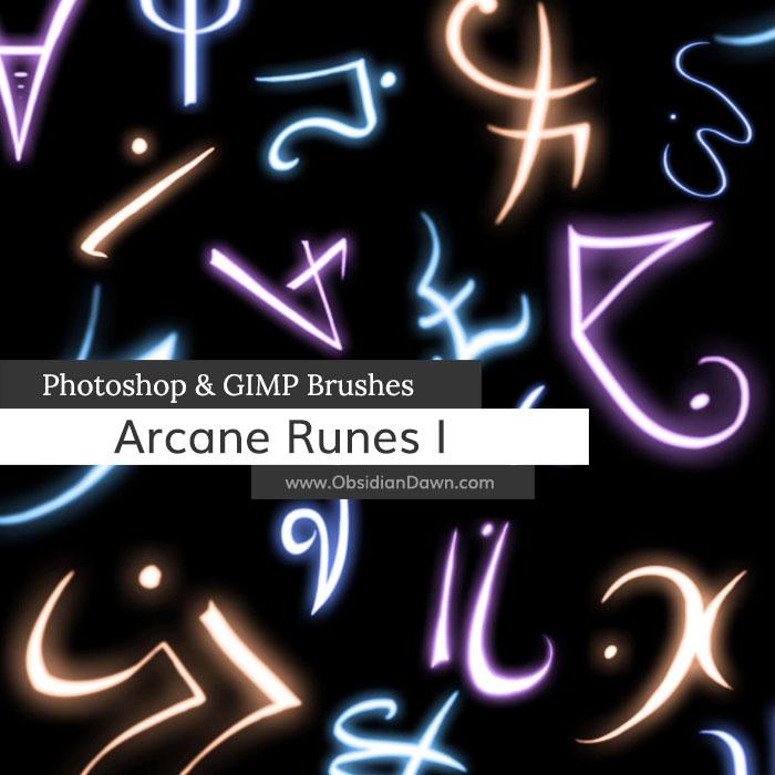 Arcane Runes Photoshop and GIMP Brushes