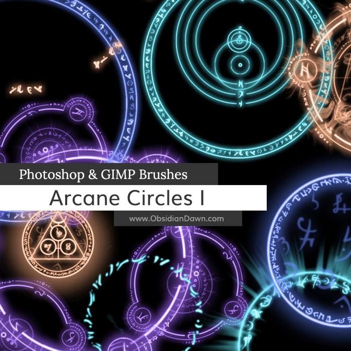 Arcane Circles-Symbols Photoshop and GIMP Brushes