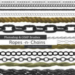 Ropes -n- Chains Photoshop and GIMP Brushes