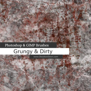 Grungy n Dirty Photoshop and GIMP Brushes