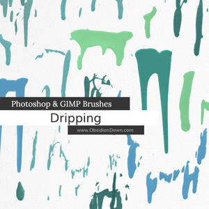 Dripping Photoshop and GIMP Brushes