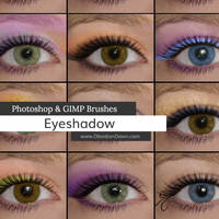 Eyeshadow Photoshop and GIMP Brushes by redheadstock