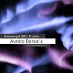 Aurora Borealis Photoshop and GIMP Brushes