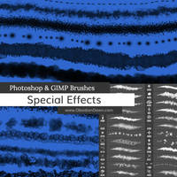 Special Effects Texture Photoshop Brushes by redheadstock