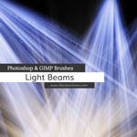 Light Beams + Rays Photoshop and GIMP Brushes by redheadstock