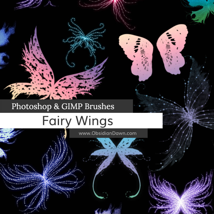 Fairy Wings Photoshop and GIMP Brushes