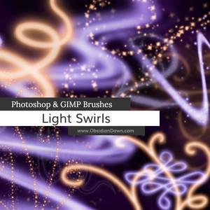 Light Swirls Photoshop and GIMP Brushes