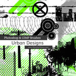 Urban Designs Vectors Photoshop and GIMP Brushes