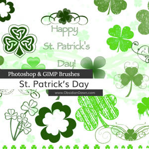St. Patrick's Day Photoshop and GIMP Brushes