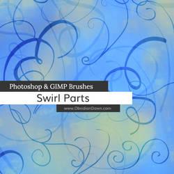 Swirl Parts Photoshop and GIMP Brushes