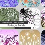 Foliage Swirls Photoshop and GIMP Brushes