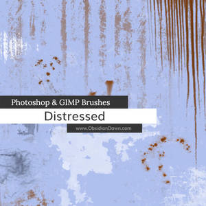 Distressed Photoshop and GIMP Brushes