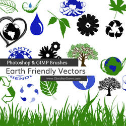 Earth Friendly Vectors Photoshop and GIMP Brushes by redheadstock