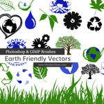 Earth Friendly Vectors Photoshop and GIMP Brushes