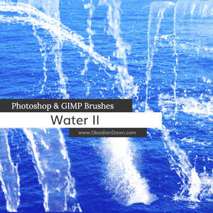 Water II Photoshop and GIMP Brushes
