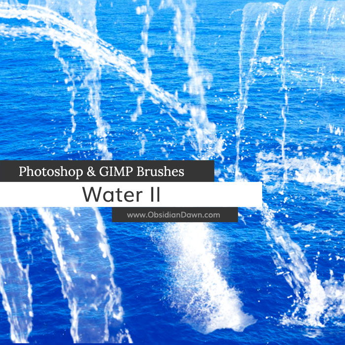 Water II Photoshop and GIMP Brushes by redheadstock