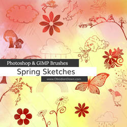 Spring Sketches Photoshop and GIMP Brushes