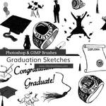 Graduation Sketches Photoshop and GIMP Brushes