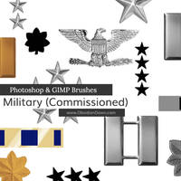 US Military Ranks I Photoshop and GIMP Brushes