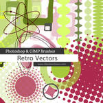 Retro Vectors Photoshop and GIMP Brushes