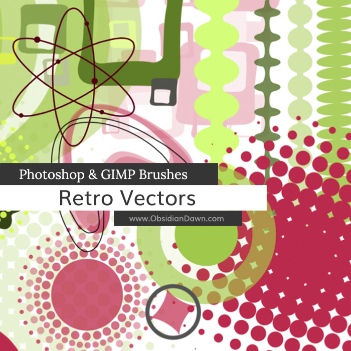 Retro Vectors Photoshop and GIMP Brushes by redheadstock