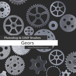 Gears Vectors Photoshop and GIMP Brushes