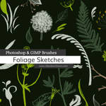 Foliage Sketches Photoshop and GIMP Brushes