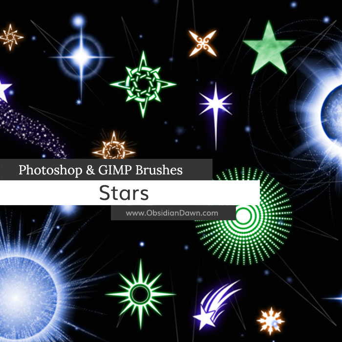 Stars Photoshop and GIMP Brushes