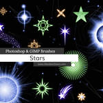 Stars Photoshop and GIMP Brushes