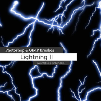 Lightning II Photoshop and GIMP Brushes