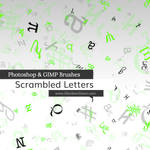 Scrambled Letters Photoshop and GIMP Brushes